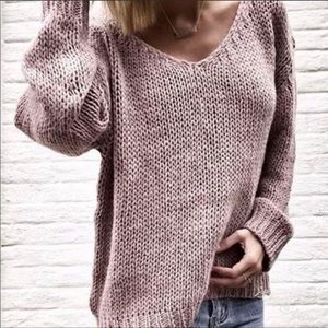 Cotton acrylic blend sweater. L. NWT.